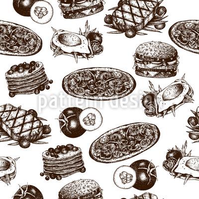 Leckeres Essen Vektor Ornament