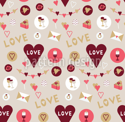 Show Your Love Seamless Vector Pattern