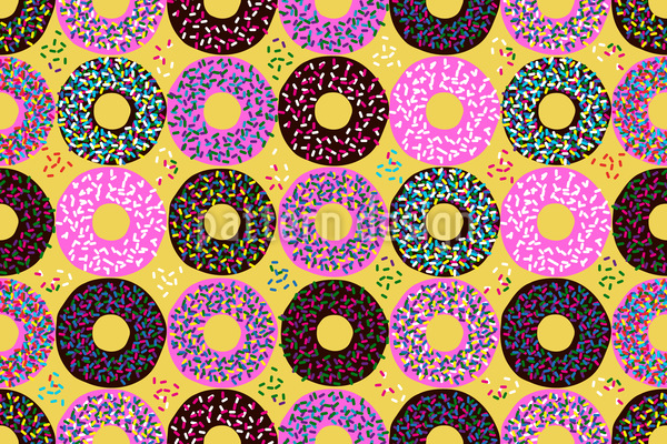 Donuts Mit Streusel Vektor Muster