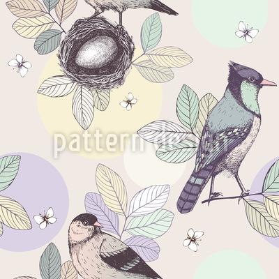 Vogelnest Nahtloses Vektormuster