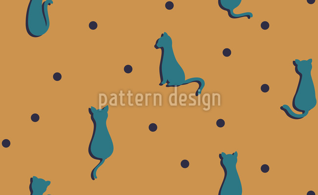 Furball Cats Repeat Pattern