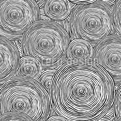 Grobe Kreise Nahtloses Vektormuster