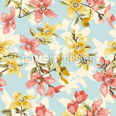 Vintage Blüte Rapportmuster