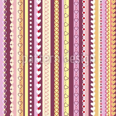 I Love Stripes Pattern Design