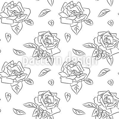 Blühende Rosen Nahtloses Muster