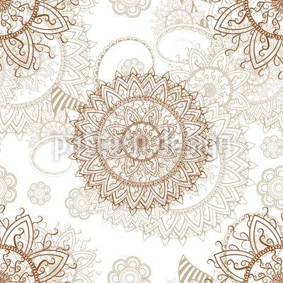Orientalisches Mandala Nahtloses Vektormuster