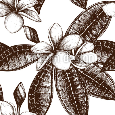 Frangipani Sketch Repeat