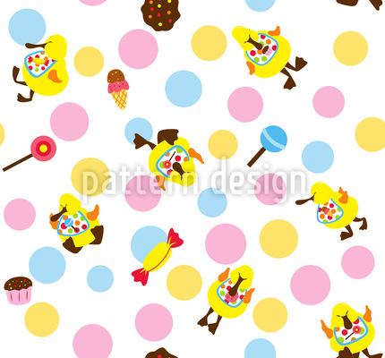 Baby Ducks Vector Ornament
