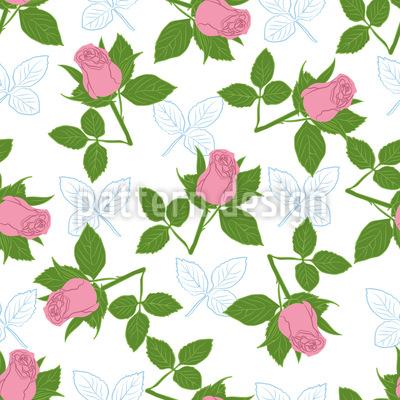 It Is Raining Roses Seamless Pattern