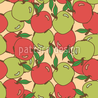 Mixed Apples Repeat Pattern