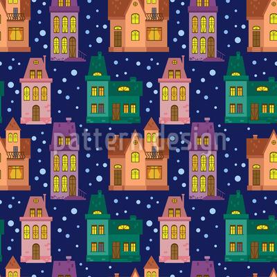 Stadt Bei Nacht Nahtloses Muster