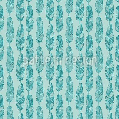 Doodle Feathers Seamless Vector Pattern