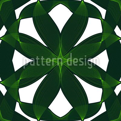 Exotic Leaf Weave Repeat