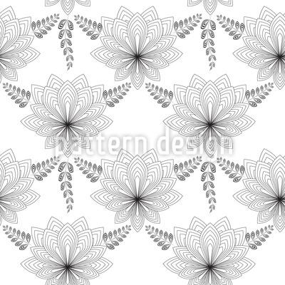 Art Deco Flower Seamless Vector Pattern