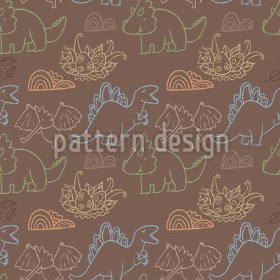 Dino Freunde Vektor Muster