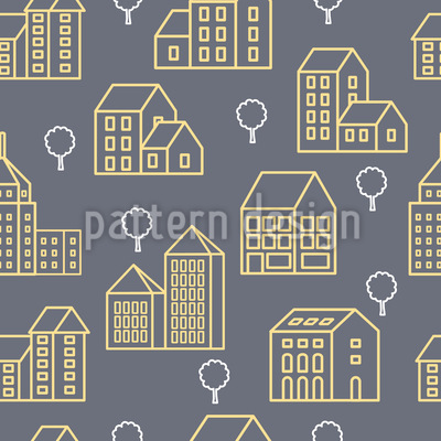 Buildings Seamless Vector Pattern Design