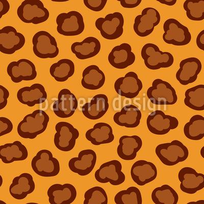 Leoparden Flecken Rapportmuster