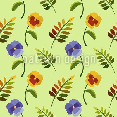 Heartsease In Spring Pattern Design