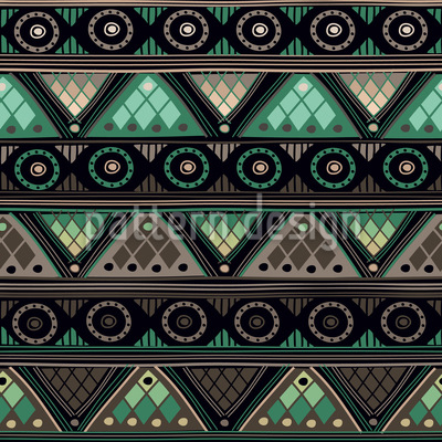 Viking Tribal Seamless Vector Pattern Design