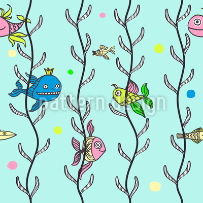 Underwater Hide And Seek Seamless Pattern