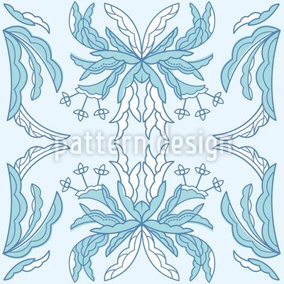 Märchen Blumen Rapportiertes Design