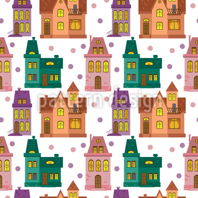 Townhouse Seamless Vector Pattern Design
