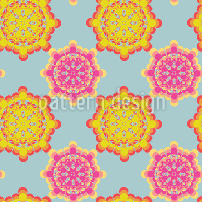 Flower Power Verbindung Muster Design