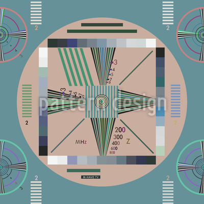 Stay Tuned Seamless Vector Pattern Design