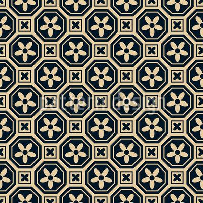 Flor Chinês Design de padrão vetorial sem costura