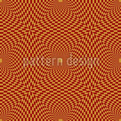 Op Art To The Square Vector Ornament