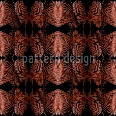Dschungel Blätter Vektor Muster
