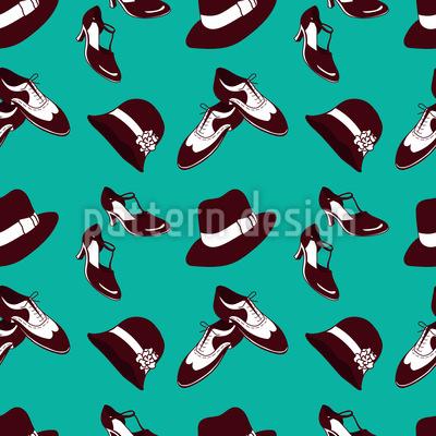 Twenties Shoes and Hats Vector Design