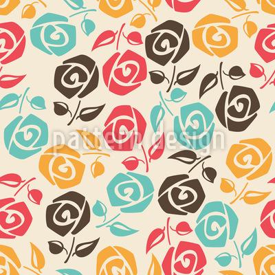 Rosen für meine Rose Rapportiertes Design