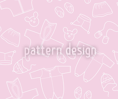 Babies Outfit Seamless Vector Pattern Design