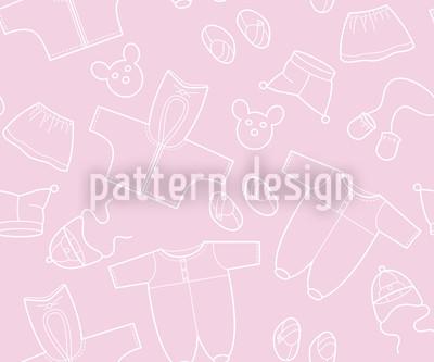 Babysachen Rosa Rapportiertes Design