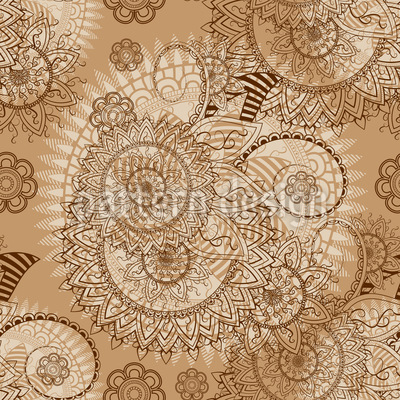 Indian Lace Seamless Vector Pattern Design