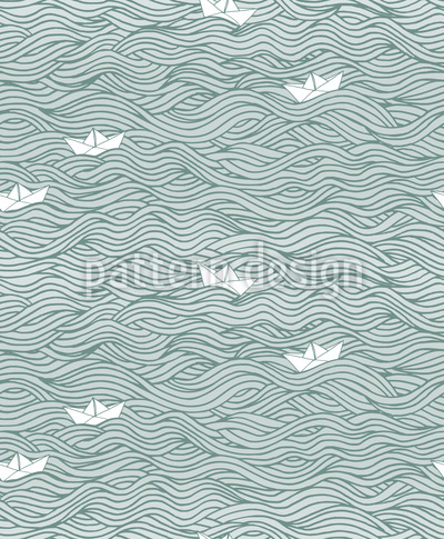 Kleine Papier-Boote Nahtloses Vektormuster