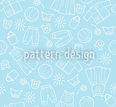 Heavenly Childrens World Seamless Vector Pattern Design