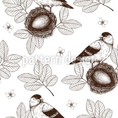Vogel Im Nest Designmuster