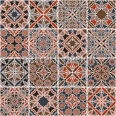 Sixteen Ways Seamless Pattern