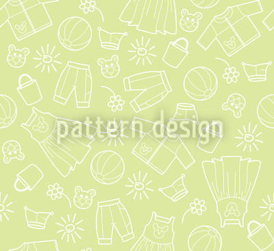 Childrens World Green Pattern Design