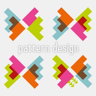 Techno Schmetterlinge Muster Design