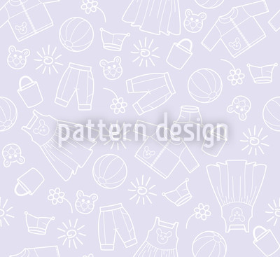 Childrens World Violet Seamless Vector Pattern Design