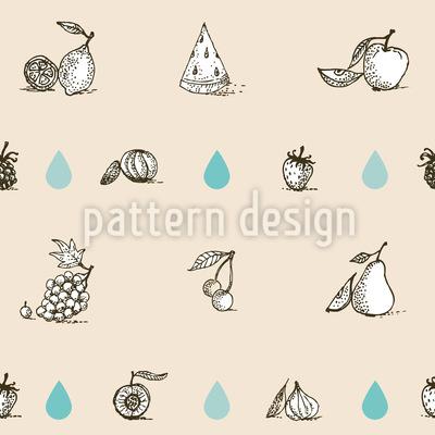 Früchte Lieben Wasser Nahtloses Muster