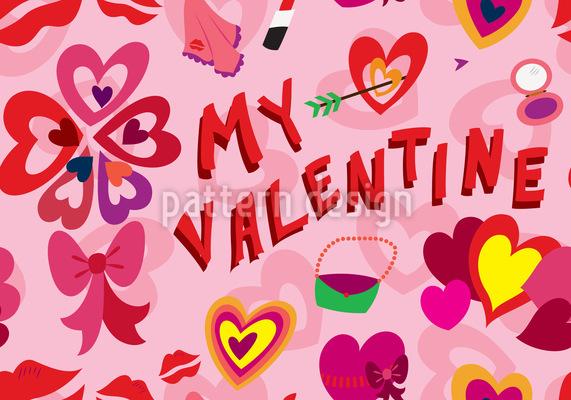 Mein Valentin Vektor Design