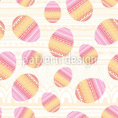 Ovos de Páscoa Design de padrão vetorial sem costura