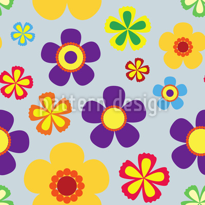 Flower Power In Spring Pattern Design