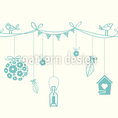 Romantic Garden Party Repeat Pattern