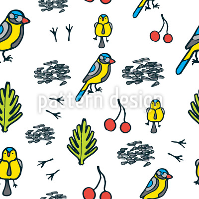 Hungry Tit Seamless Vector Pattern