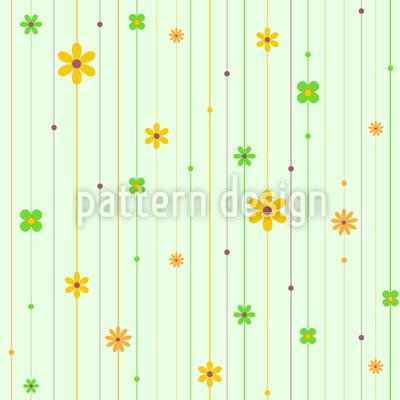 Blumen Stränge Rapportiertes Design